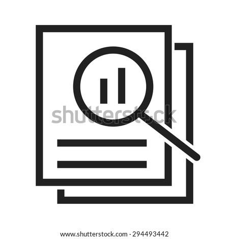 Overview, analysis,review icon vector image.Can also be used for admin dashboard. Suitable for mobile apps, web apps and print media. Stock photo ©