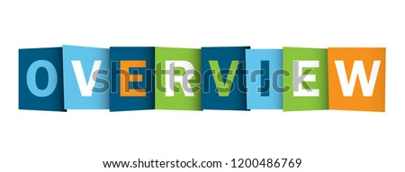 OVERVIEW colorful letters banner Stock photo ©