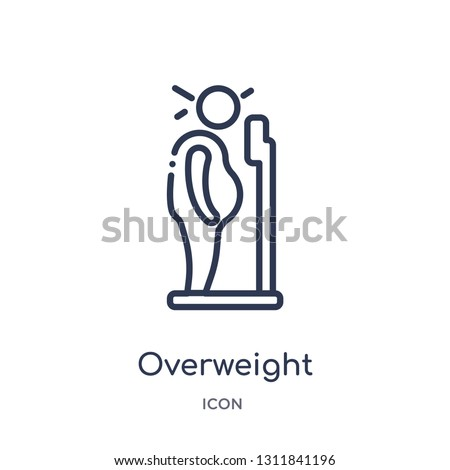 overweight icon from other outline collection. Thin line overweight icon isolated on white background. ストックフォト ©