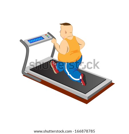 overweight men running on a