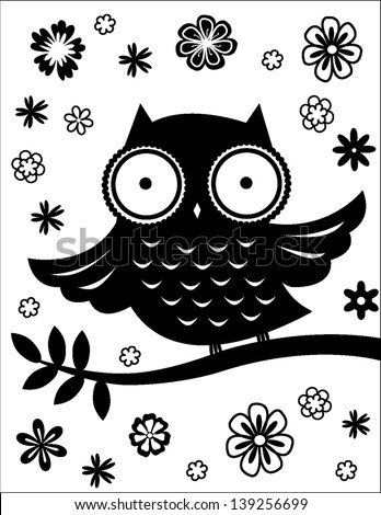 owl - stock vector