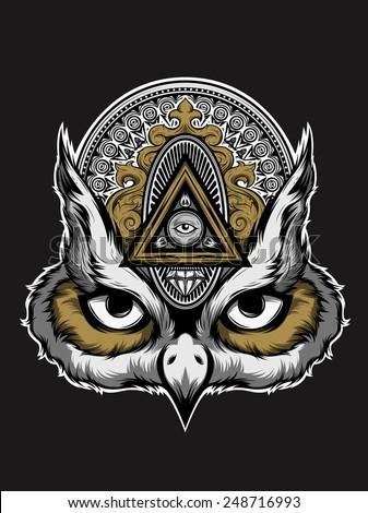 owl art vector animal