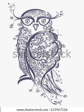 Owl Beautiful graphics illustration