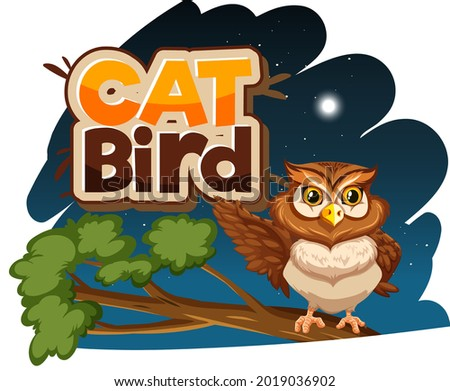 owl cartoon character at night