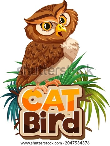 owl cartoon character with cat