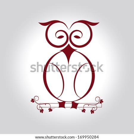 owl design over gray