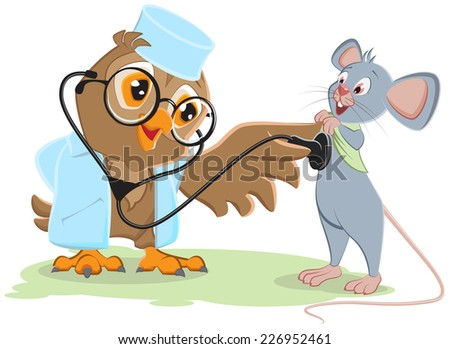 owl doctor and patient mouse