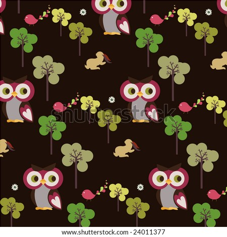 forest wallpaper. owl forest wallpaper