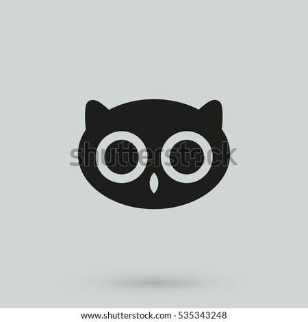owl icon isolated on background. Modern flat pictogram, business, marketing, internet concept. Trendy Simple vector symbol for web site design or button to mobile app. Logo illustration