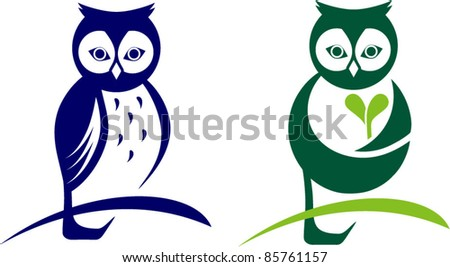 owl icon, logo design