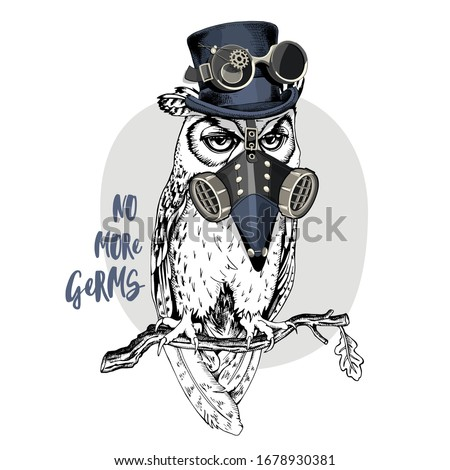 owl in a plague doctor mask and