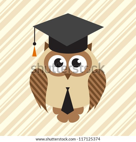 owl in graduation hat