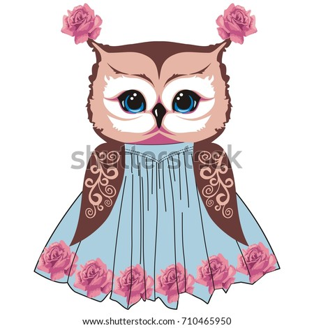 owl in the style of shabby chic