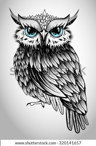owl lady illustration