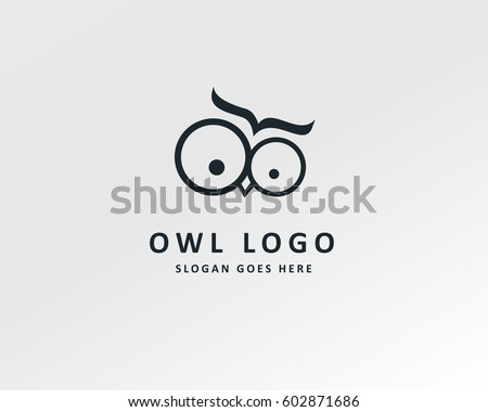 owl logo template design