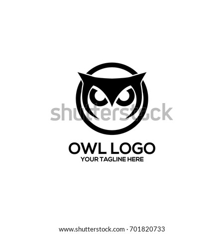 owl logo vector template