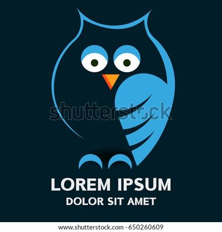 owl logo vector  vector