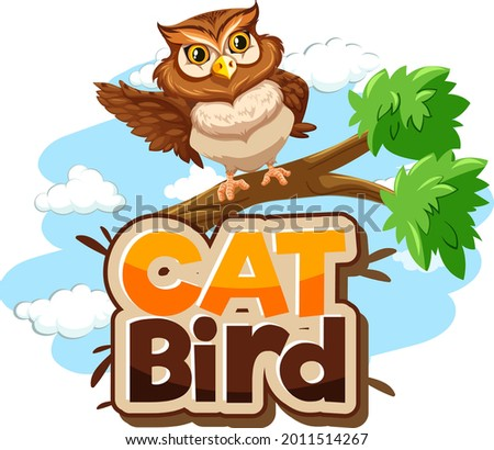 owl on branch cartoon character