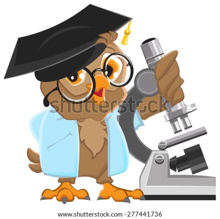 owl professor in mortarboard