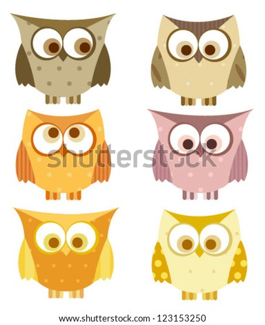 owl set with spots