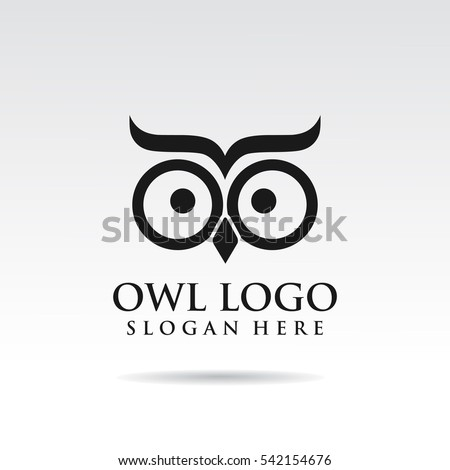 owl simple logo template design
