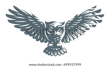 owl   vector illustration icon