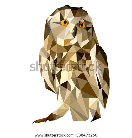 owl vector polygon geometric