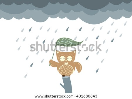 owls cartoon sitting on a