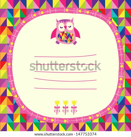 Owl Doodle Drawing Owls Doodle Frame And