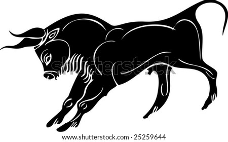 ox tattoo - stock vector
