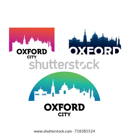 Oxford City Skyline Logo Template Design Vector, Emblem, Design Concept, Creative Symbol, Icon