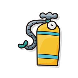 oxygen cylinder color doodle