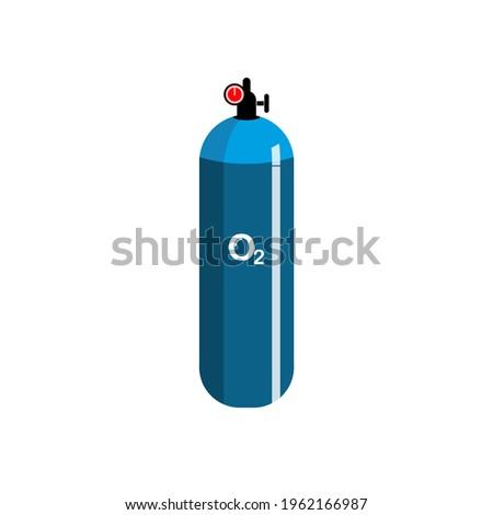 Oxygen cylinder tank realistic vector artwork. Realistic vector art of Oxygen cylinder. Medical Oxygen. Corona patients need oxygen. Stock photo ©
