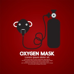 Oxygen Mask With Tank Vector Illustration