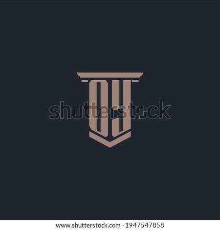 OY initial monogram logo with pillar style design Stok fotoğraf ©