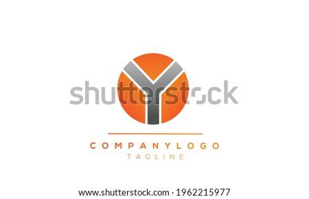 OY initials monogram letter text alphabet logo design Stok fotoğraf ©