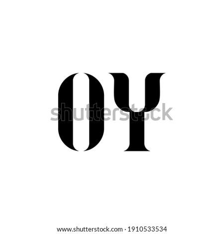 OY letter logo design. Initial letter OY uppercase monogram logo white color. OY logo, O Y design. OY, O Y Stok fotoğraf ©