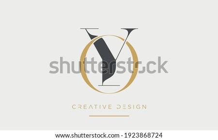 OY or YO Alphabet letters Abstract Icon Logo monogram Stok fotoğraf ©