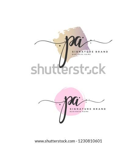 P A PA Initial logo template vector Stock fotó ©