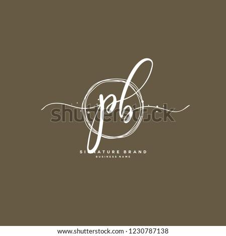 P B PB Initial logo template vector Stock fotó ©