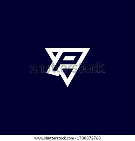 P e sports logo designs vector template Stok fotoğraf ©