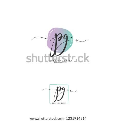 P G PG Initial logo template vector Stock fotó ©
