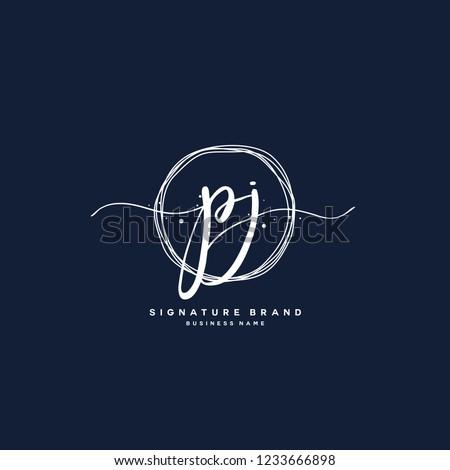 P J PJ Initial logo template vector Stock fotó ©
