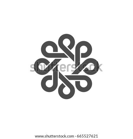 P Letter Celtic Ornamental Logo Template Illustration Design. Vector EPS 10.