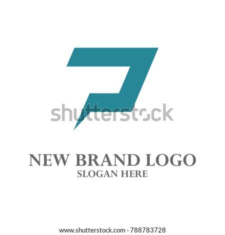 P Logo Vector. P, I, E, S, N, Q, O, R, C, B, L, F, U, V Logo Vector Stock fotó ©