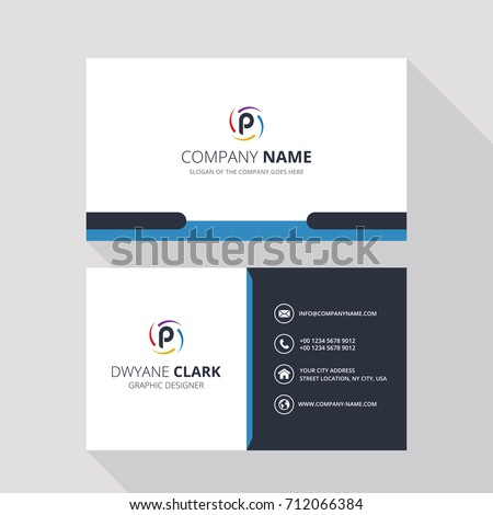 P Simple ID Card With Logo or Icon For Your Business