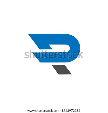 p text logo design