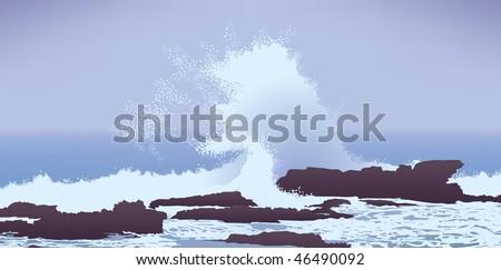 pacific ocean winter storm