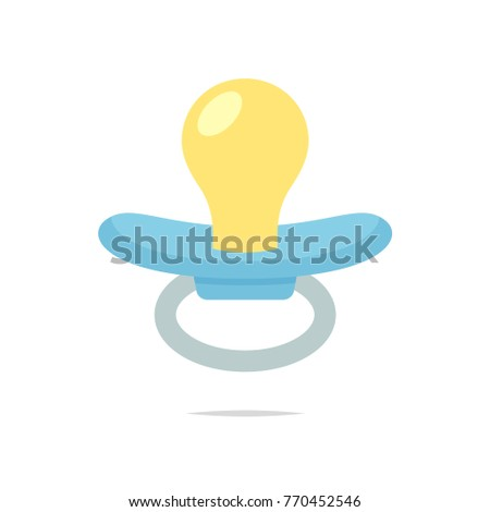 Pacifier isolated vector