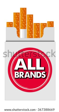 pack of cigarettes all brands